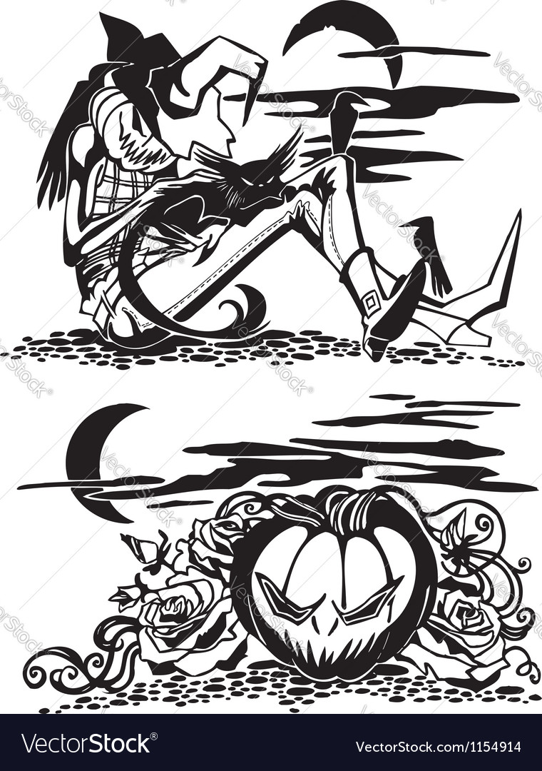 Happy halloween - set vector | Price: 1 Credit (USD $1)