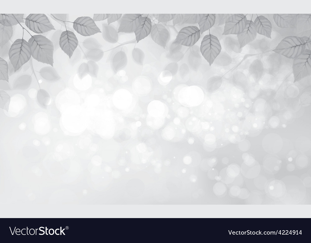 Leaves gray background vector | Price: 1 Credit (USD $1)