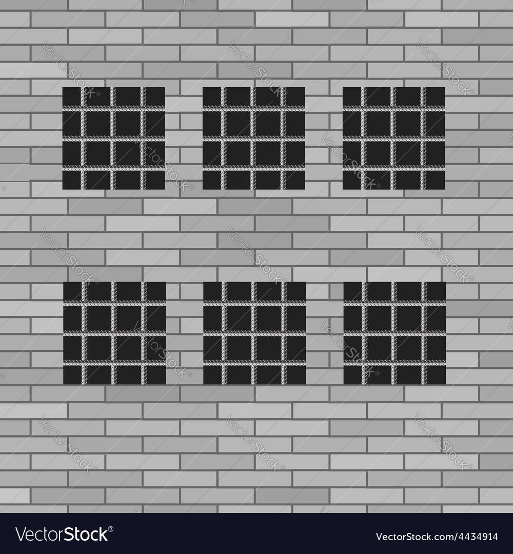 Prison grey brick wall vector | Price: 1 Credit (USD $1)