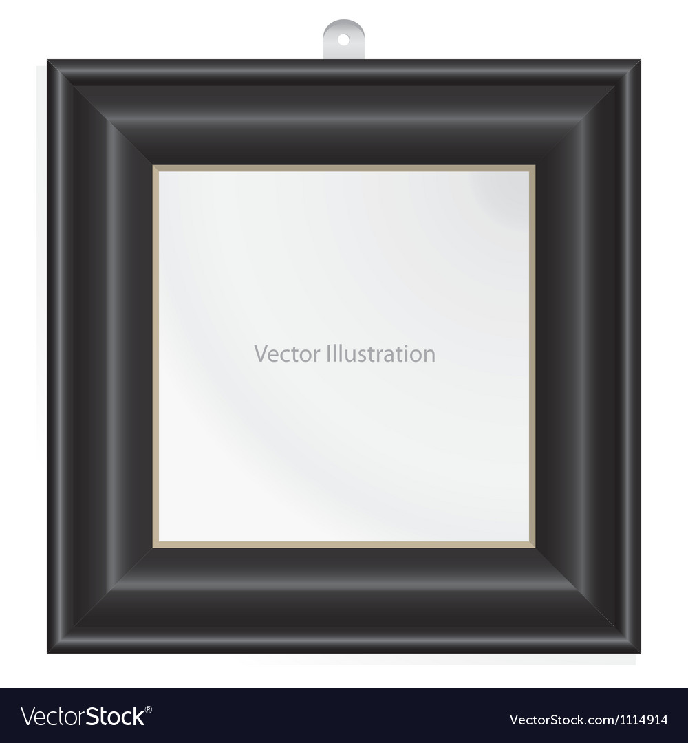 Simple black color frame vector | Price: 1 Credit (USD $1)