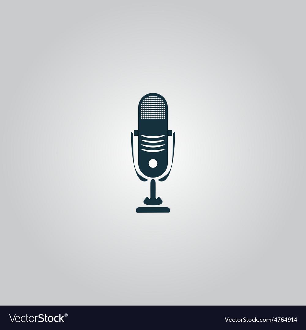Simple retro microphone vector | Price: 1 Credit (USD $1)