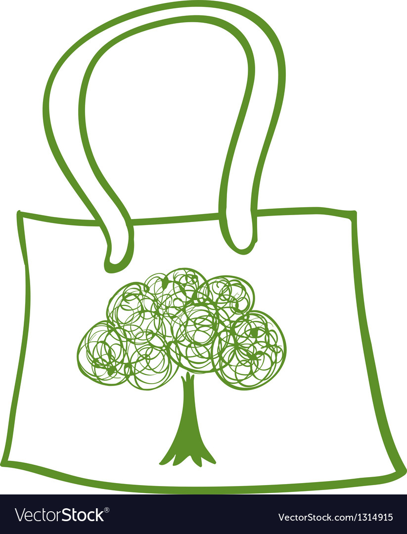 A green recycled bag vector | Price: 1 Credit (USD $1)