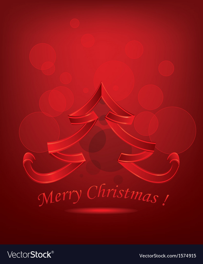 Abstract red christmas tree vector | Price: 1 Credit (USD $1)