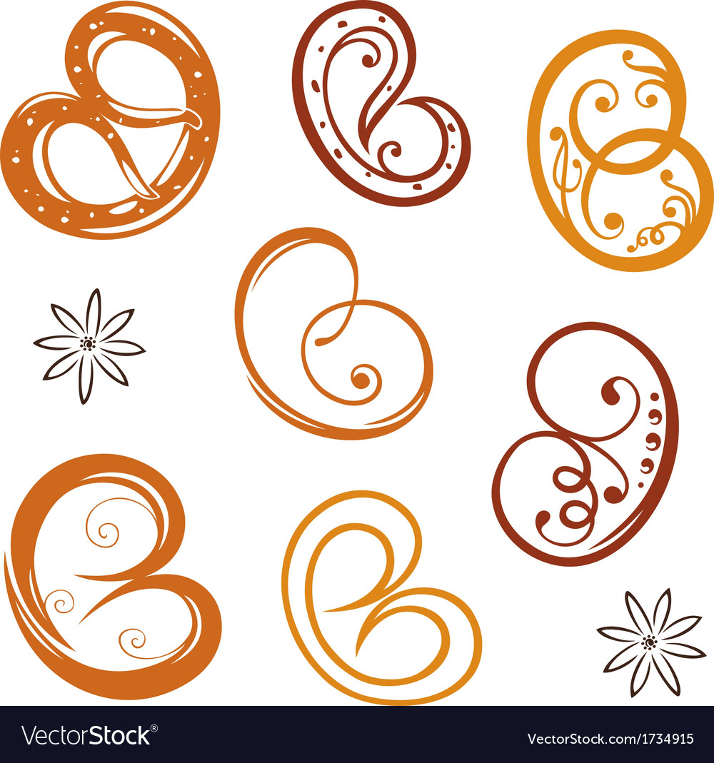 Bakery pretzel vector | Price: 1 Credit (USD $1)