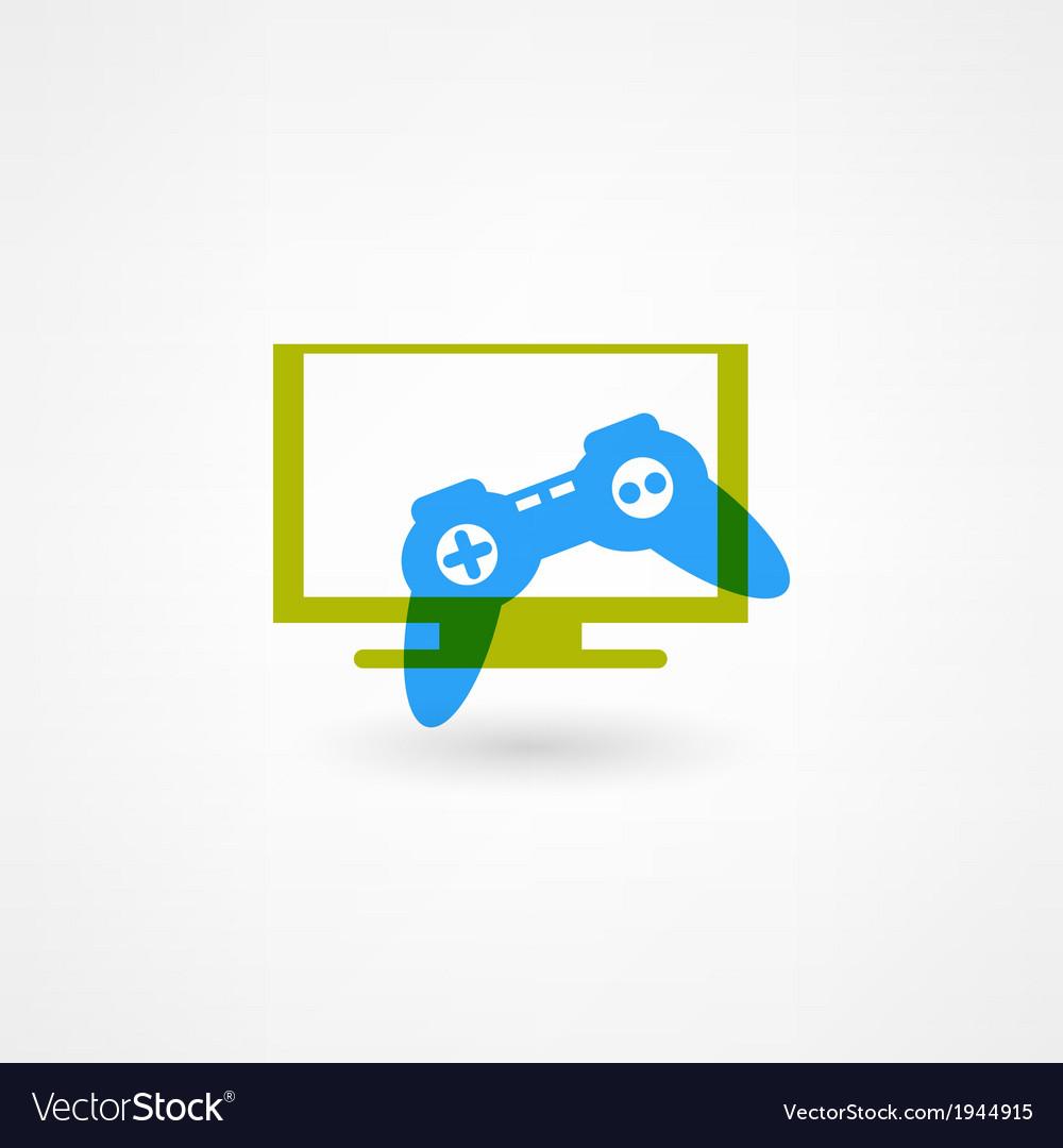 Game joystick icon vector | Price: 1 Credit (USD $1)