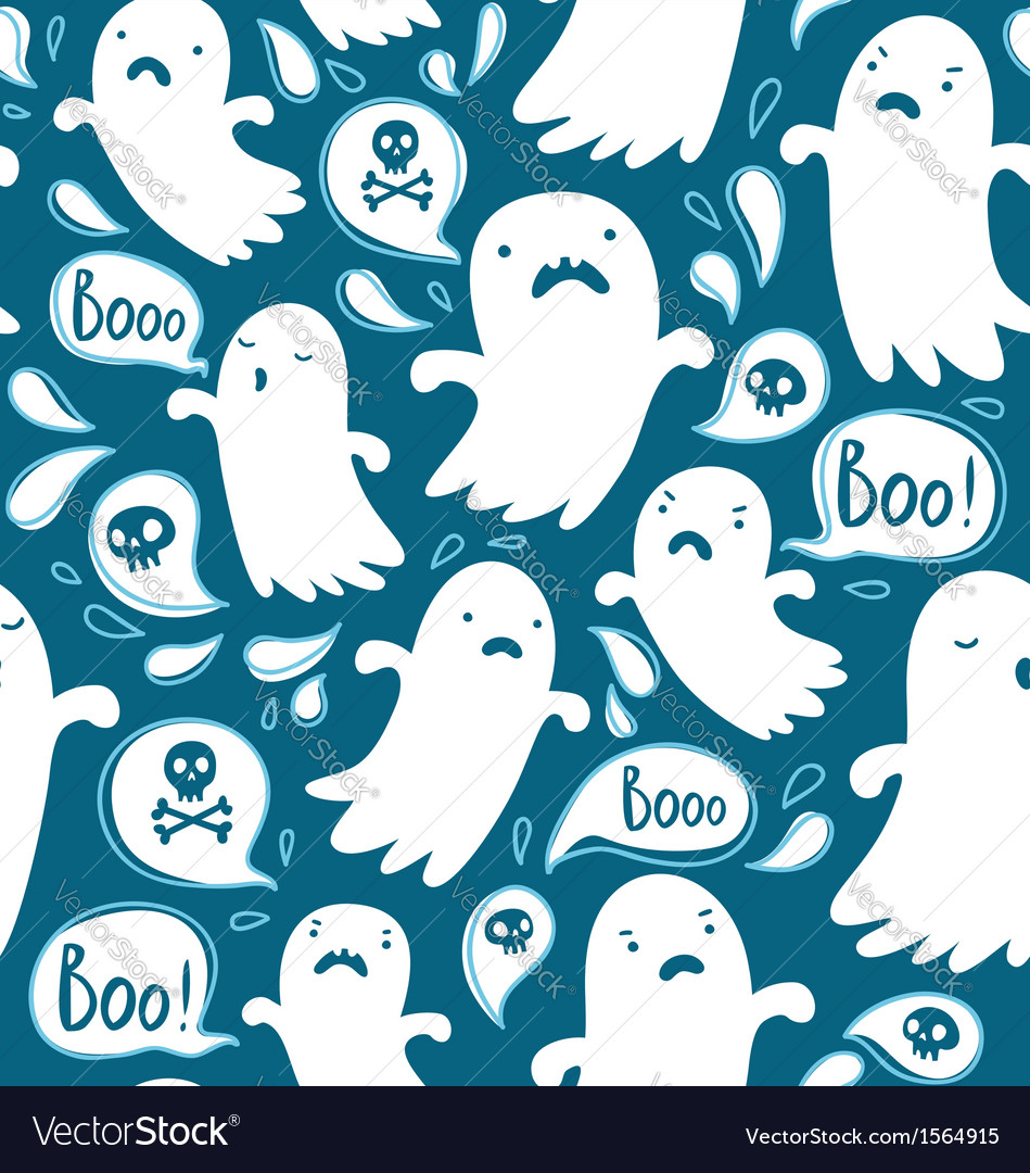 Ghosts pattern vector | Price: 1 Credit (USD $1)