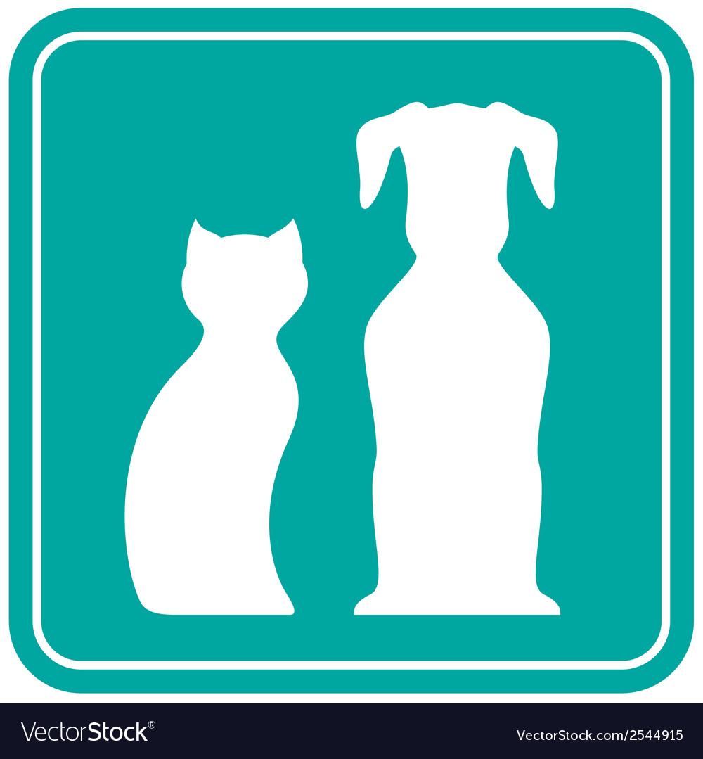 Pet white silhouette vector | Price: 1 Credit (USD $1)