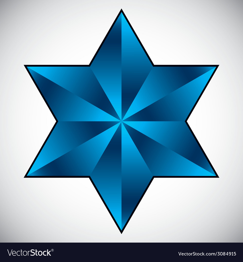 Six point star symbol vector | Price: 1 Credit (USD $1)