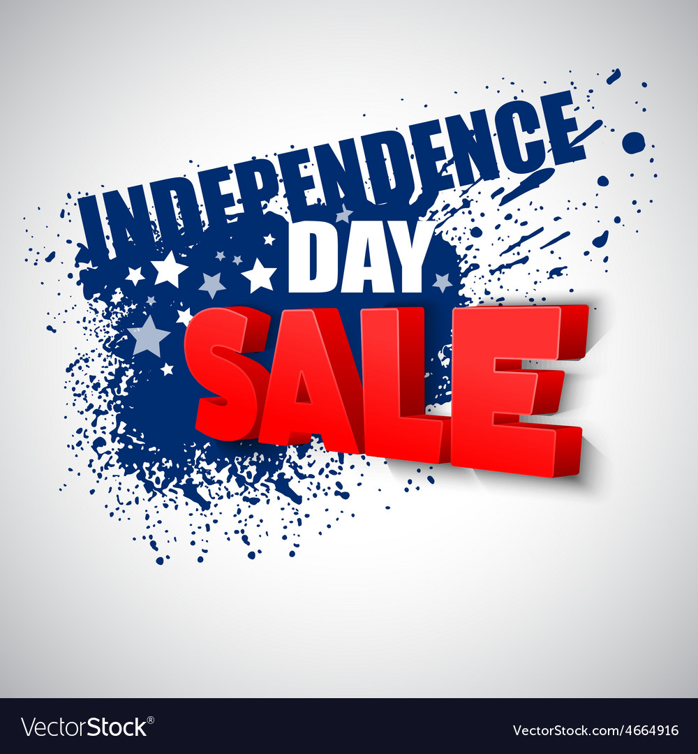 4th of july sale background vector | Price: 1 Credit (USD $1)