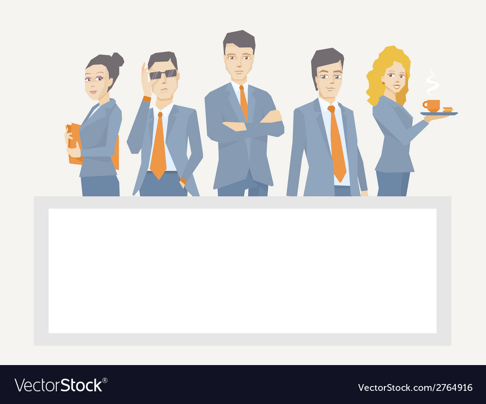 A business team of young businesspeople s vector | Price: 1 Credit (USD $1)