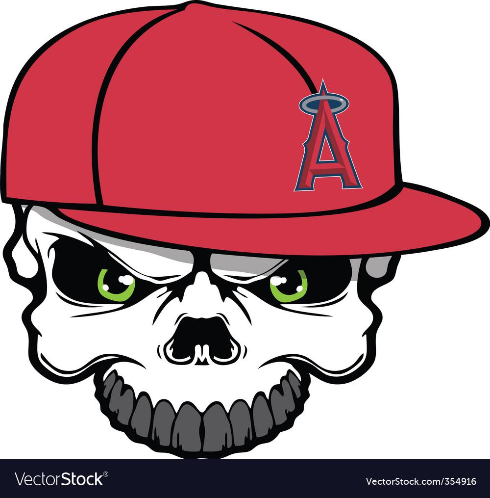Angels skull vector | Price: 1 Credit (USD $1)