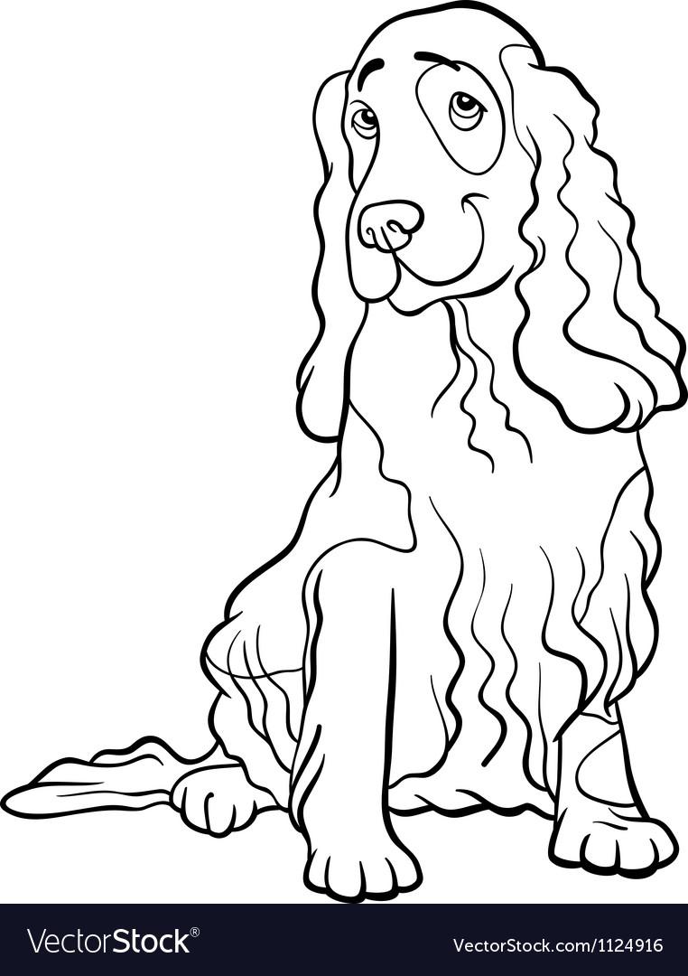 Cocker spaniel dog cartoon for coloring book vector   Price: 1 Credit (USD $1)
