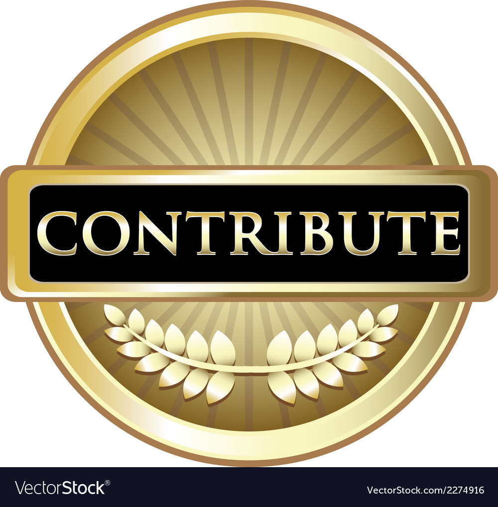 Contribute gold label vector | Price: 1 Credit (USD $1)
