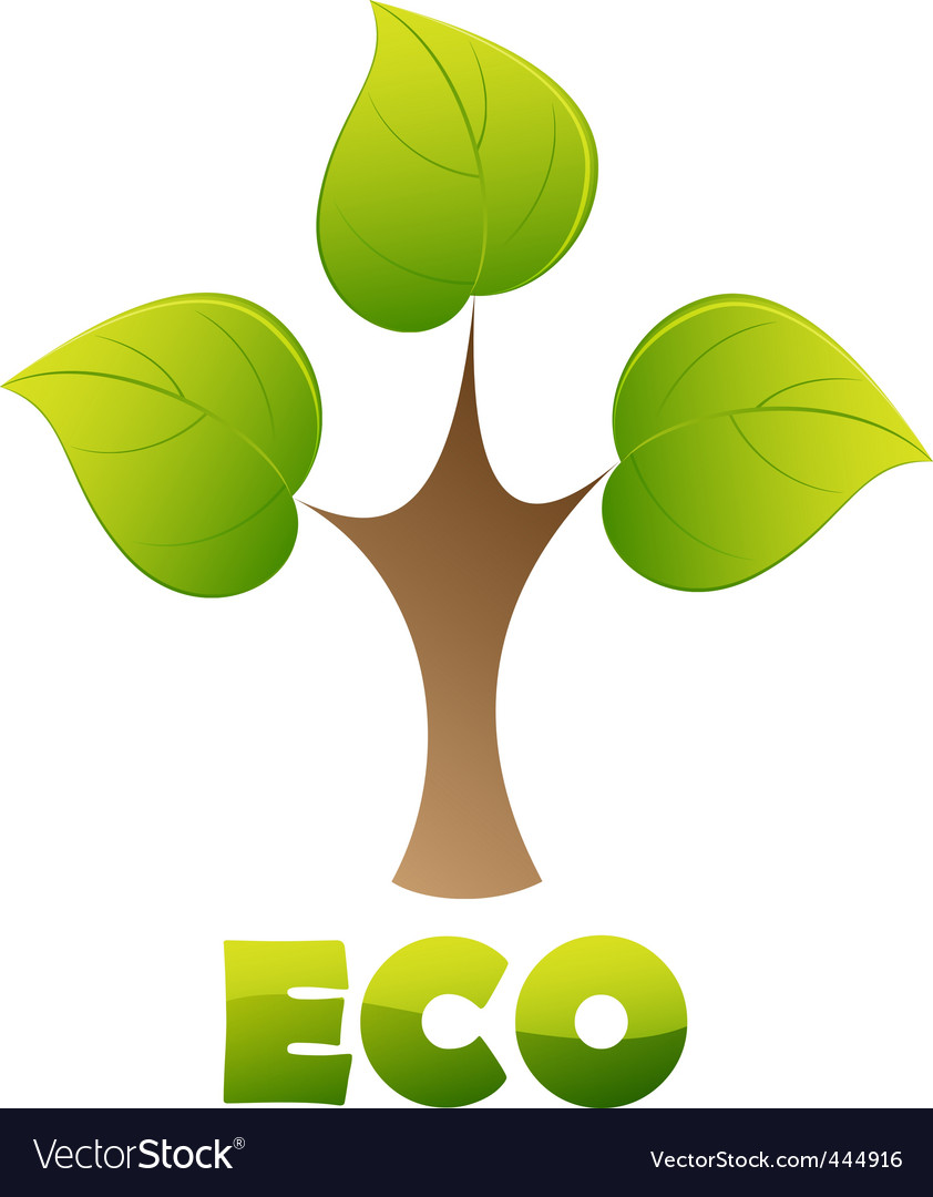 Eco logo  green tree vector | Price: 1 Credit (USD $1)