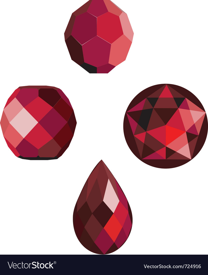 Faceted ruby red beads vector | Price: 1 Credit (USD $1)