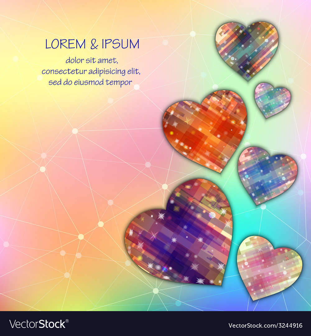 Love symbol light mesh abstract background with vector | Price: 1 Credit (USD $1)