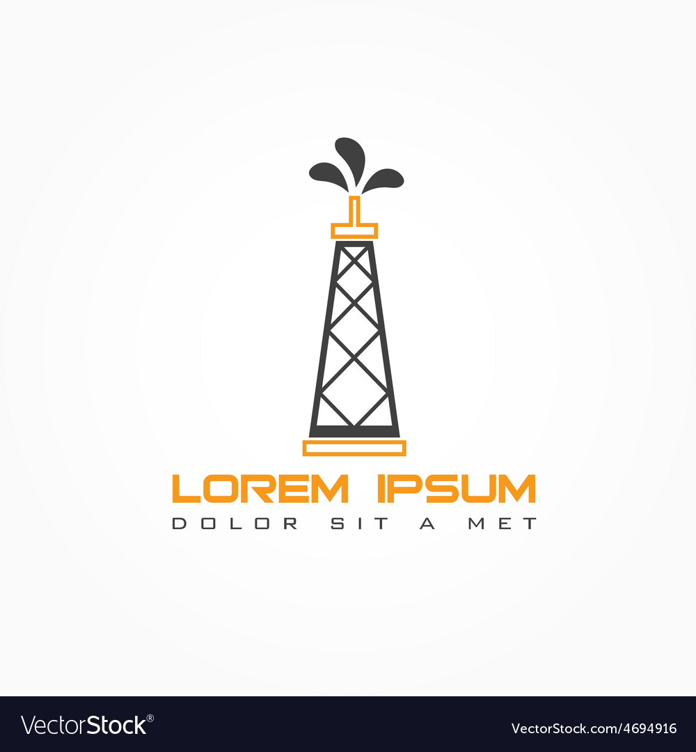 Oil rig abstract design template vector   Price: 1 Credit (USD $1)