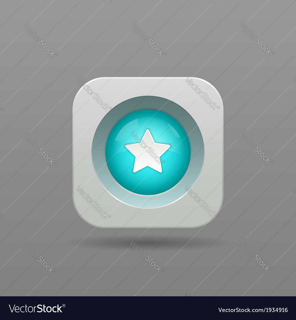 Star button vector | Price: 1 Credit (USD $1)