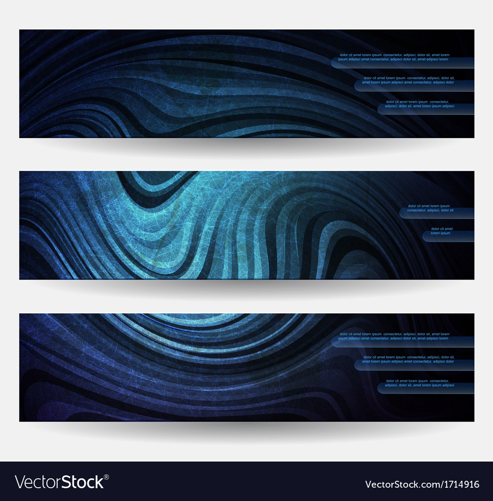 Three headers vector | Price: 1 Credit (USD $1)