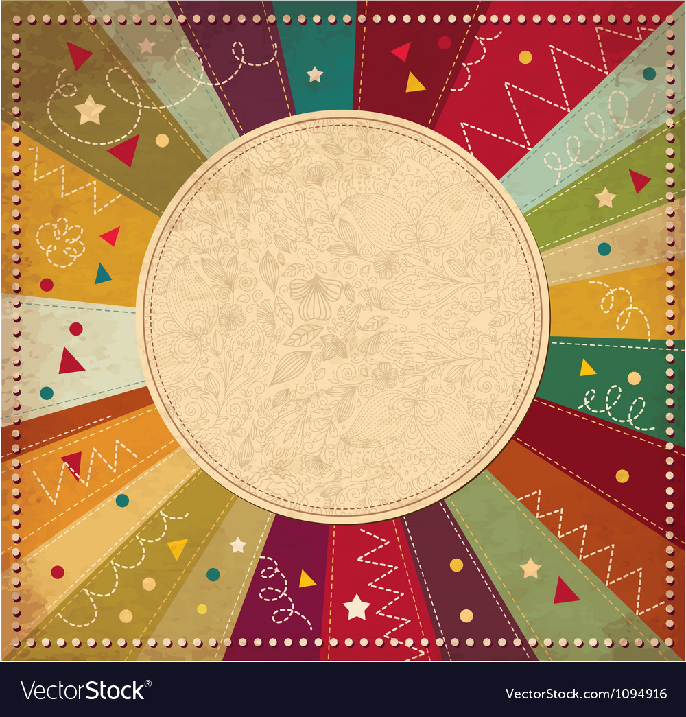 Vintage celebration frame vector | Price: 1 Credit (USD $1)
