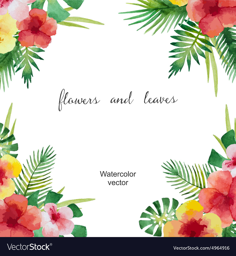Watercolor square frame vector