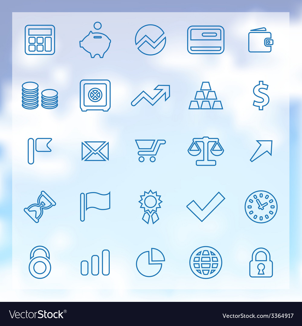 25 finance icons set vector | Price: 1 Credit (USD $1)