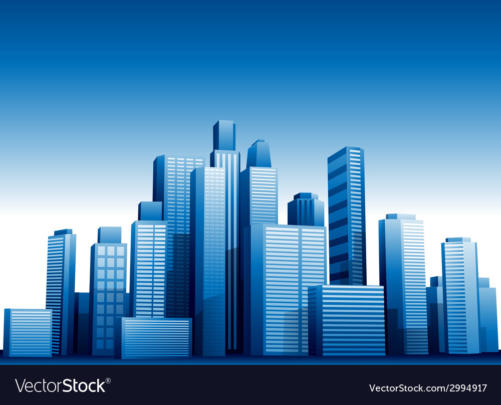 3d cityscape buildings background vector | Price: 1 Credit (USD $1)