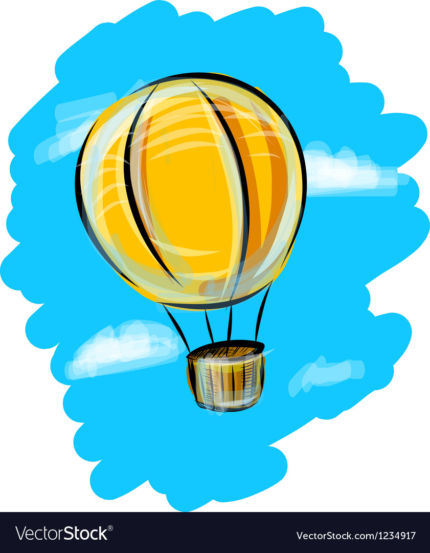 Air balloon in the sky vector | Price: 1 Credit (USD $1)