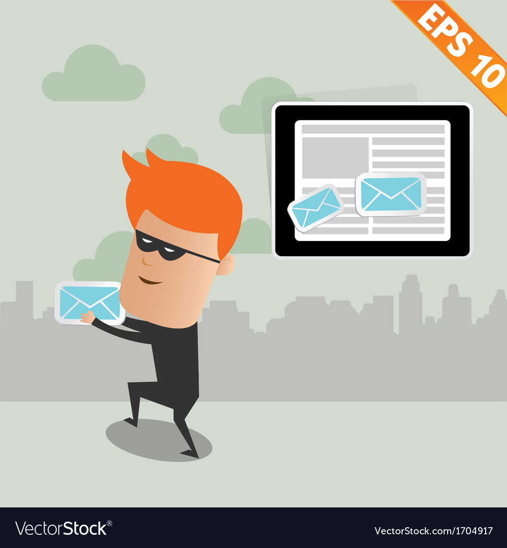 Hacker steal email - - eps10 vector | Price: 1 Credit (USD $1)