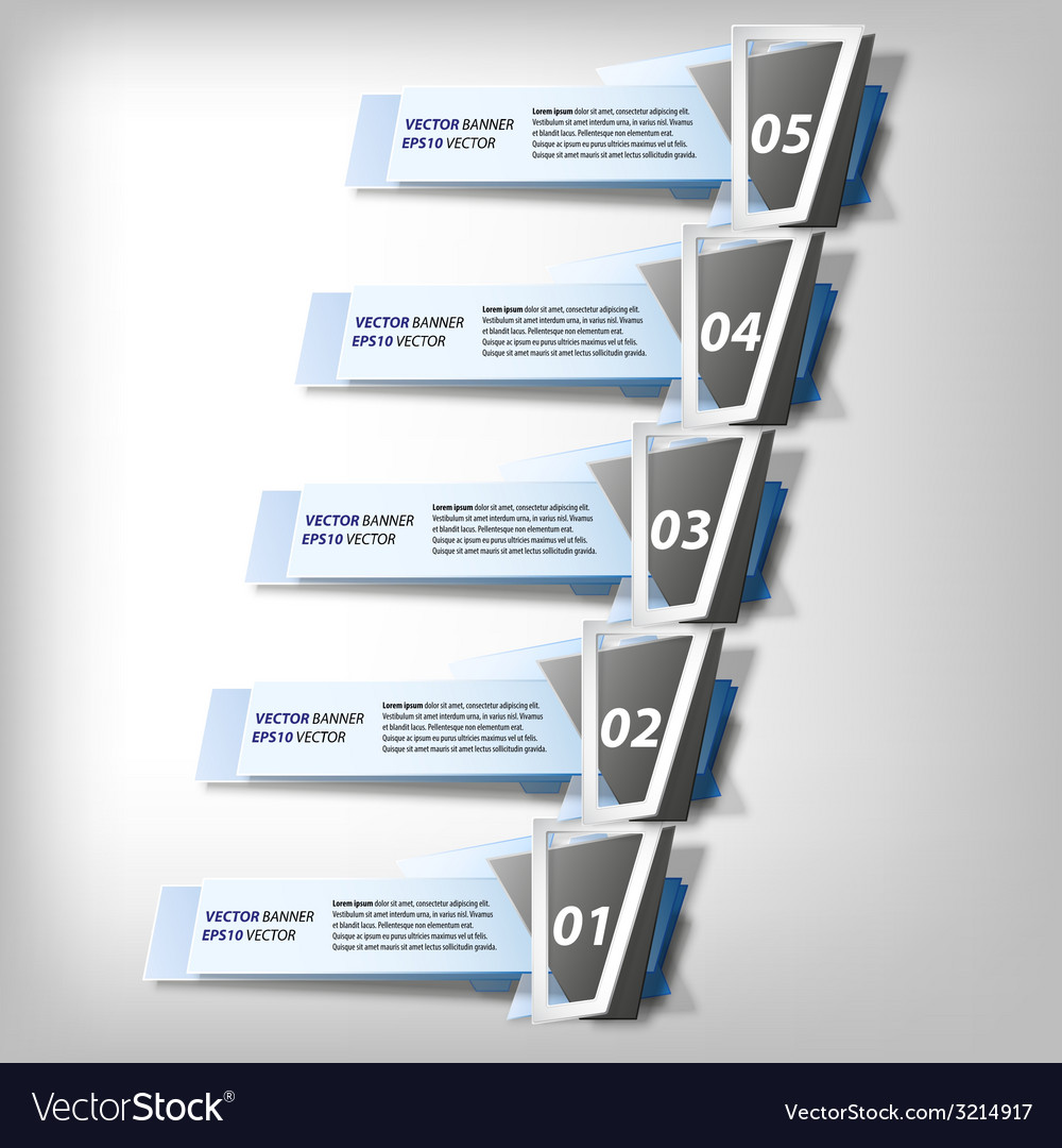 Infographic banners set origami styled vector | Price: 1 Credit (USD $1)