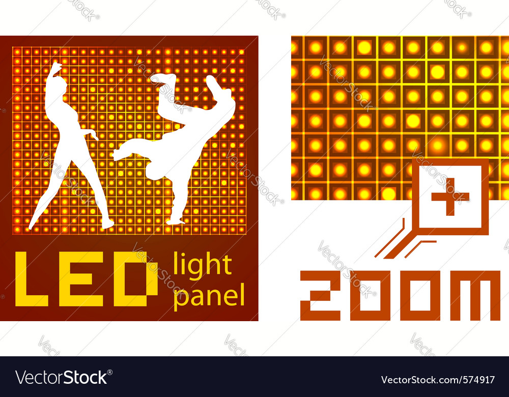 Led panel vector | Price: 1 Credit (USD $1)