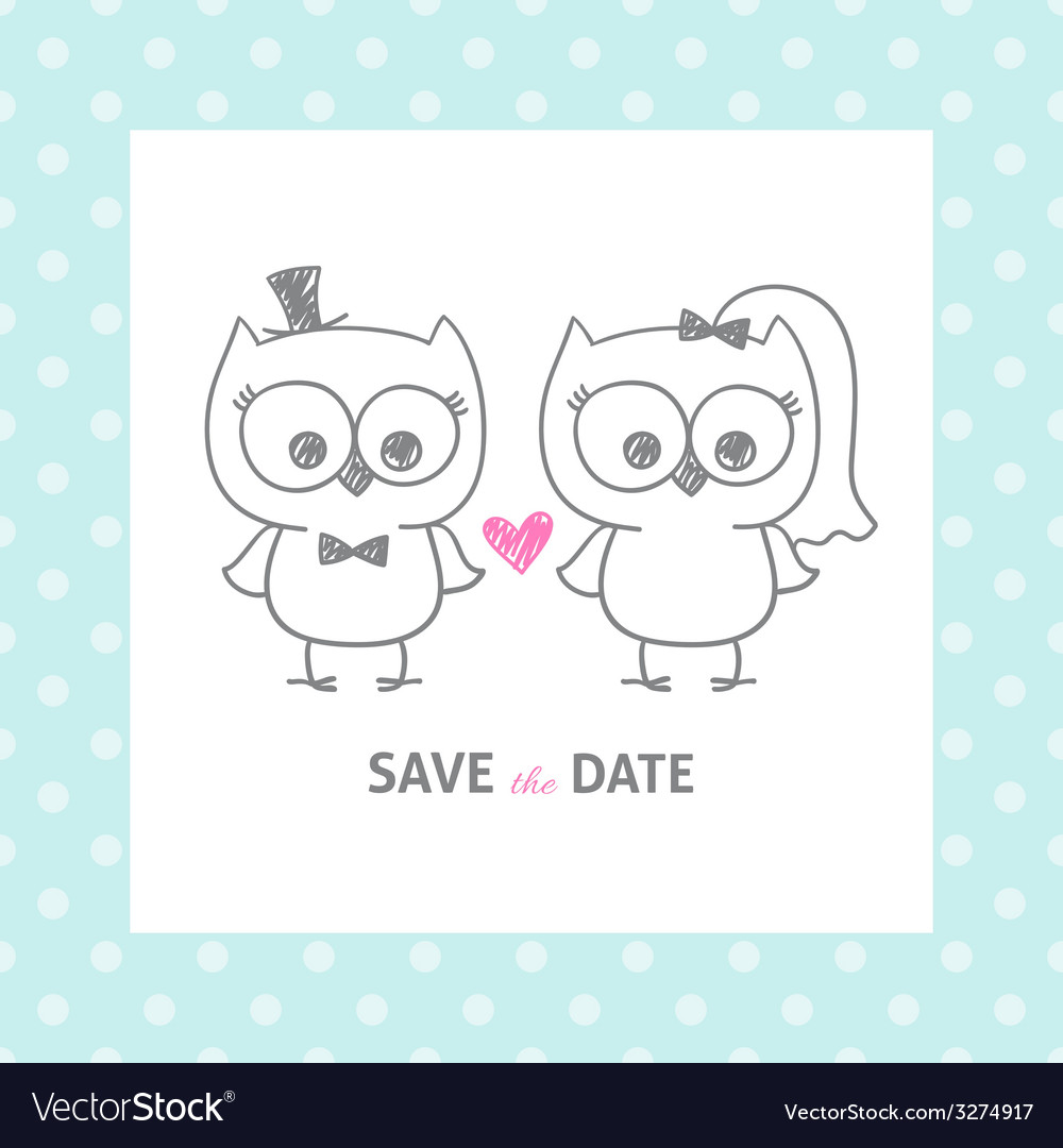 Wedding owls vector | Price: 1 Credit (USD $1)