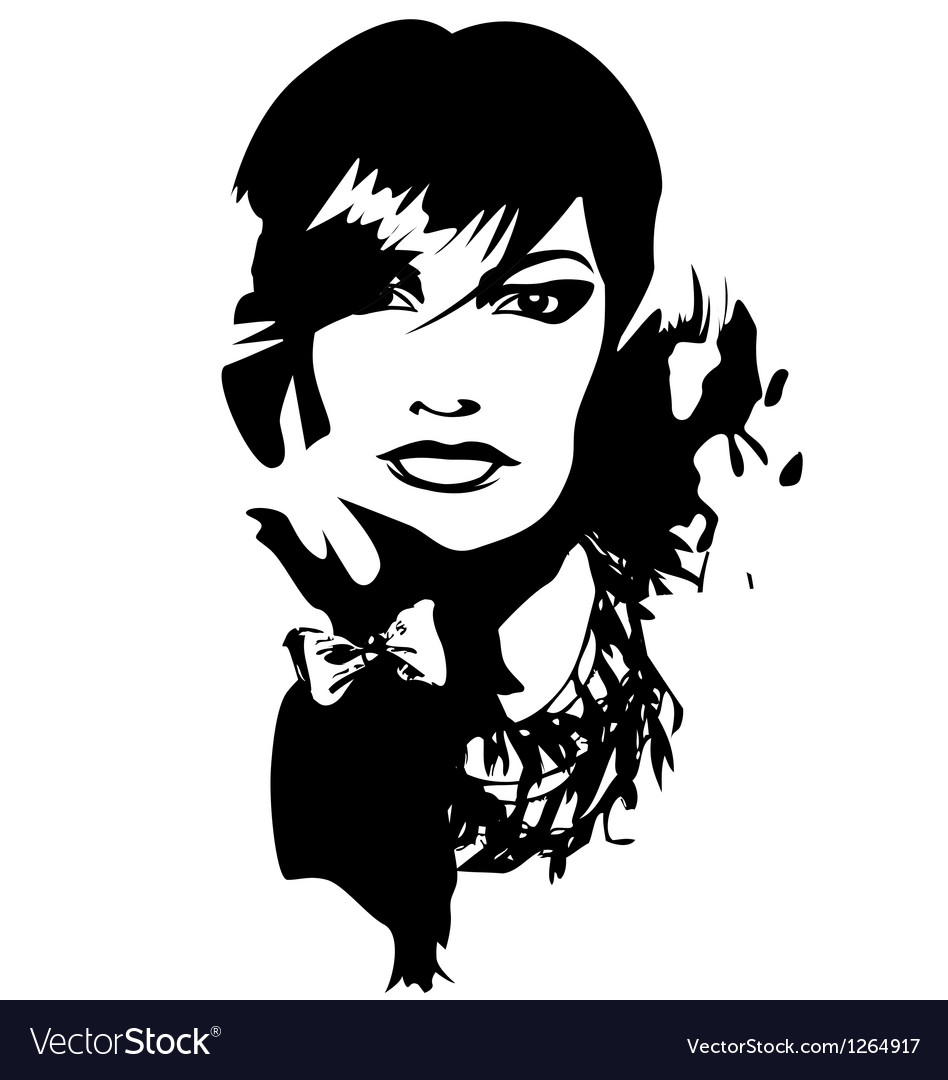 Woman face profile portrait vector | Price: 1 Credit (USD $1)
