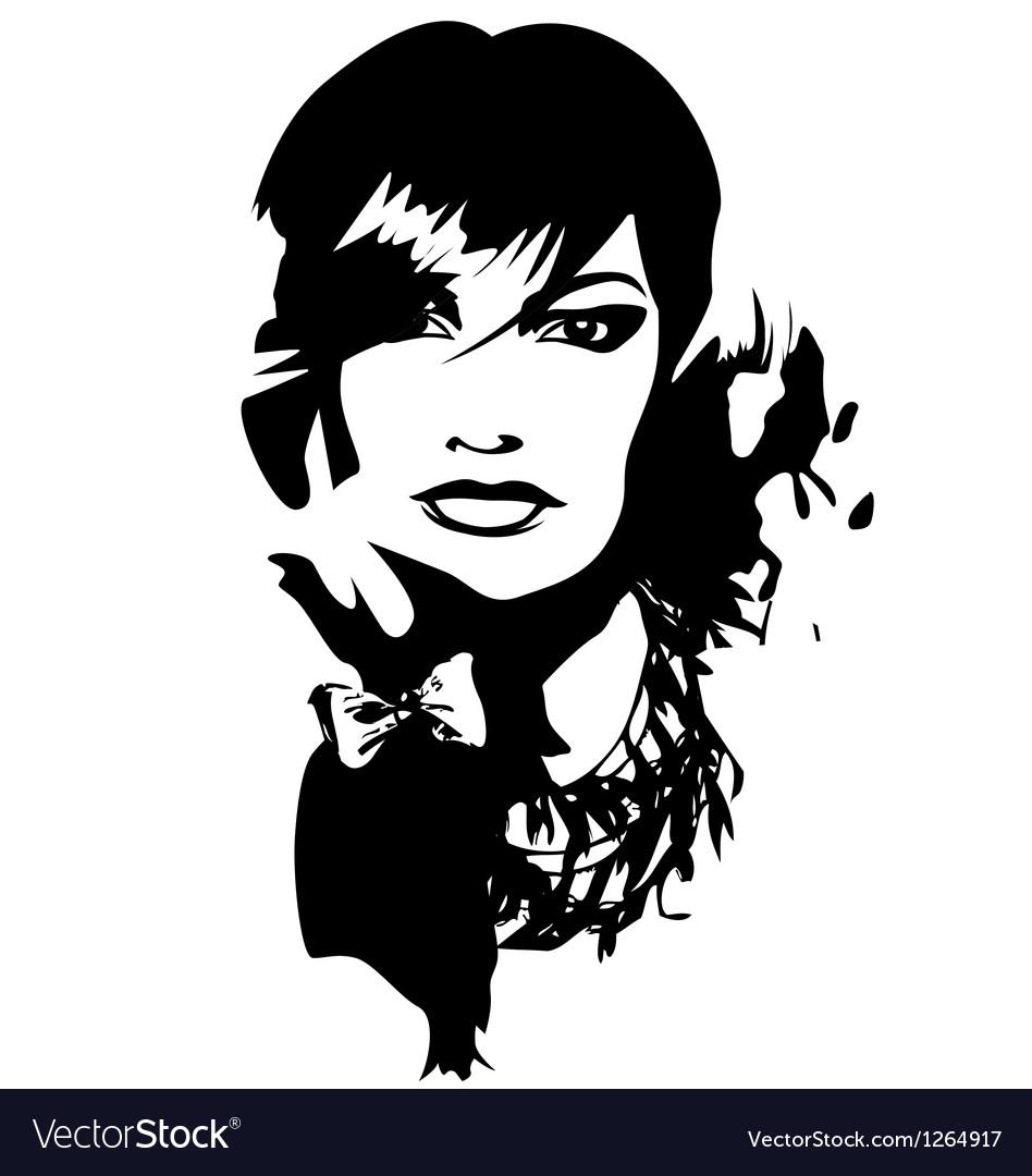 Woman face profile portrait vector | Price: 1 Credit (USD $1)
