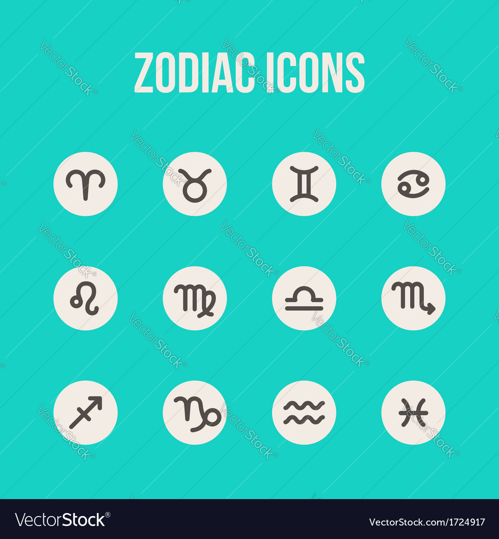 Zodiac signs set vector | Price: 1 Credit (USD $1)