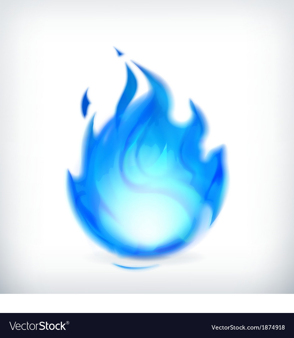 Blue fire icon vector | Price: 1 Credit (USD $1)