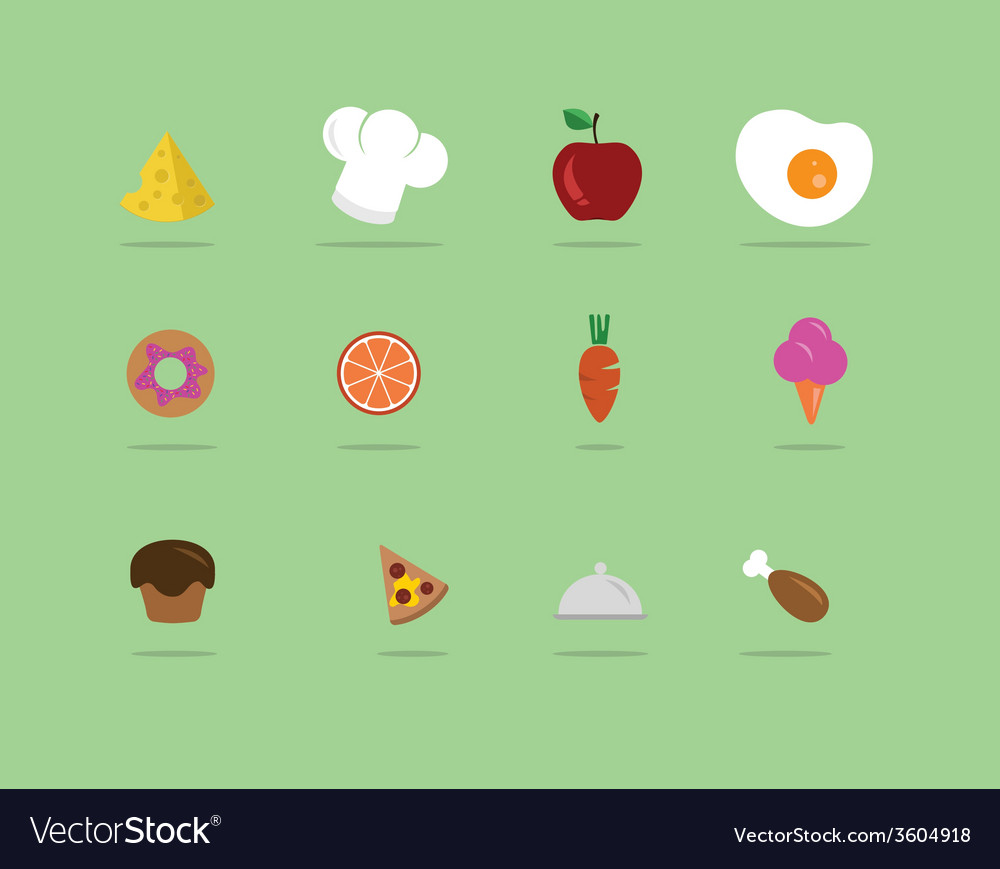 Flat food icon vector | Price: 1 Credit (USD $1)