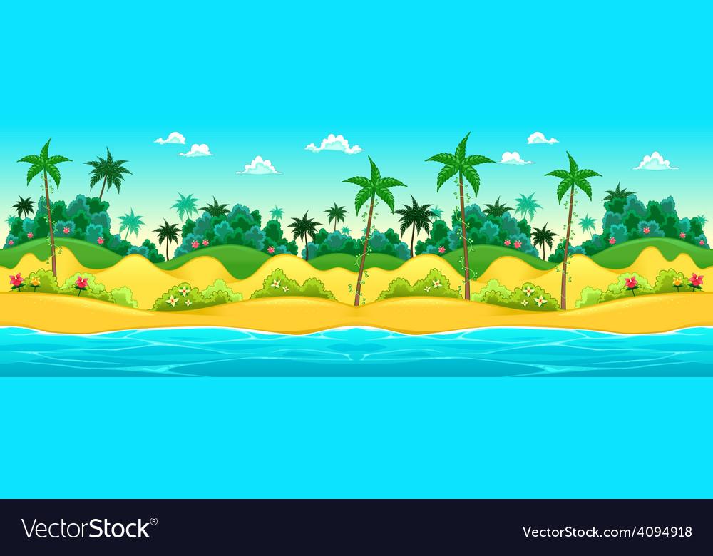 Landscape on the seashore vector   Price: 3 Credit (USD $3)