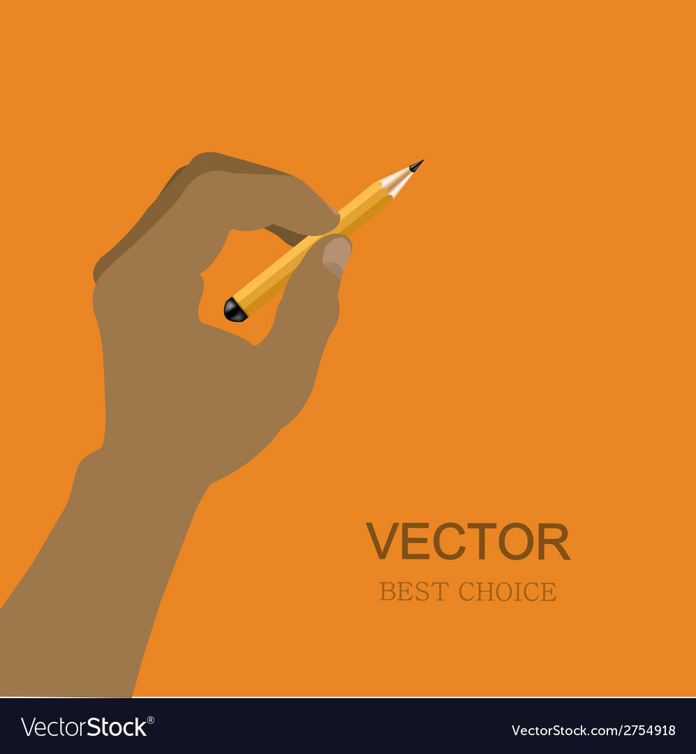 Modern hand with pencil vector | Price: 1 Credit (USD $1)