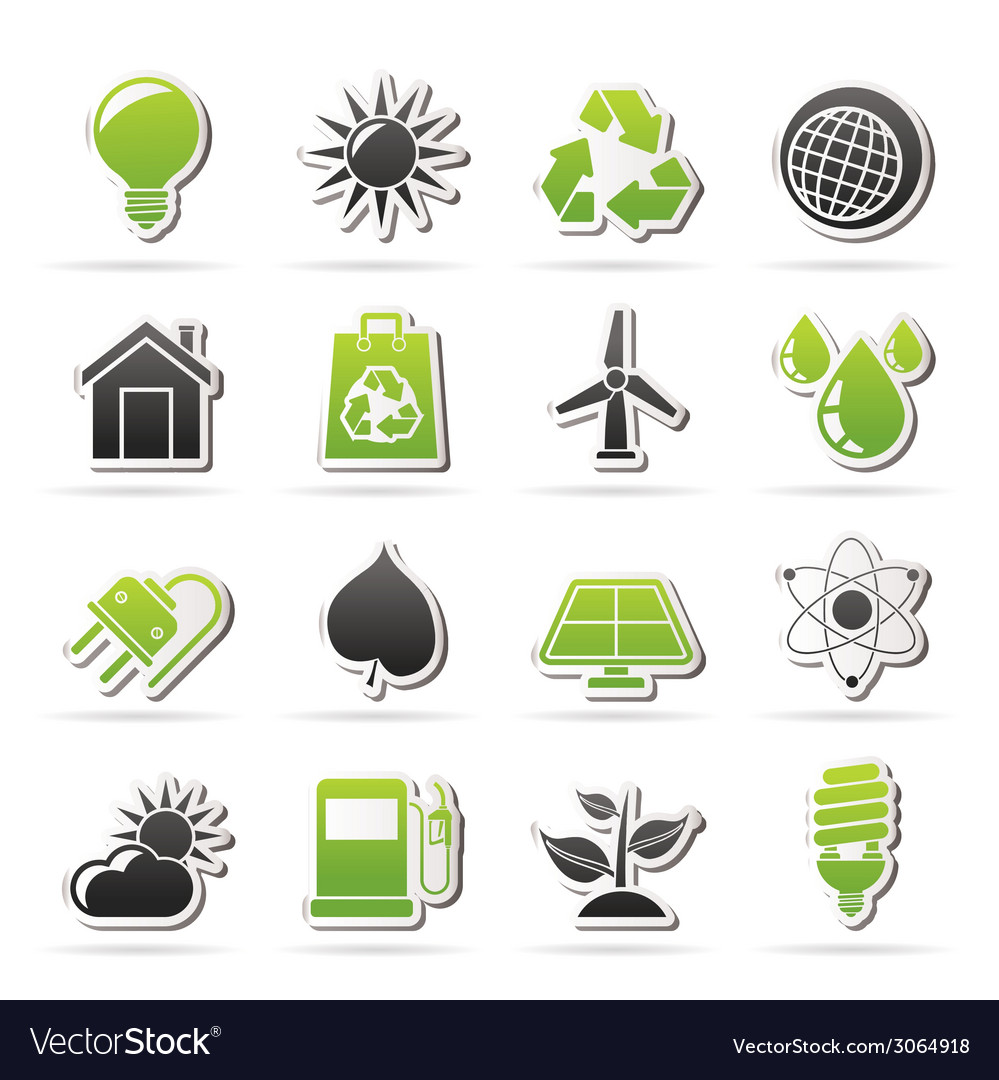Nature and environment icons vector   Price: 1 Credit (USD $1)