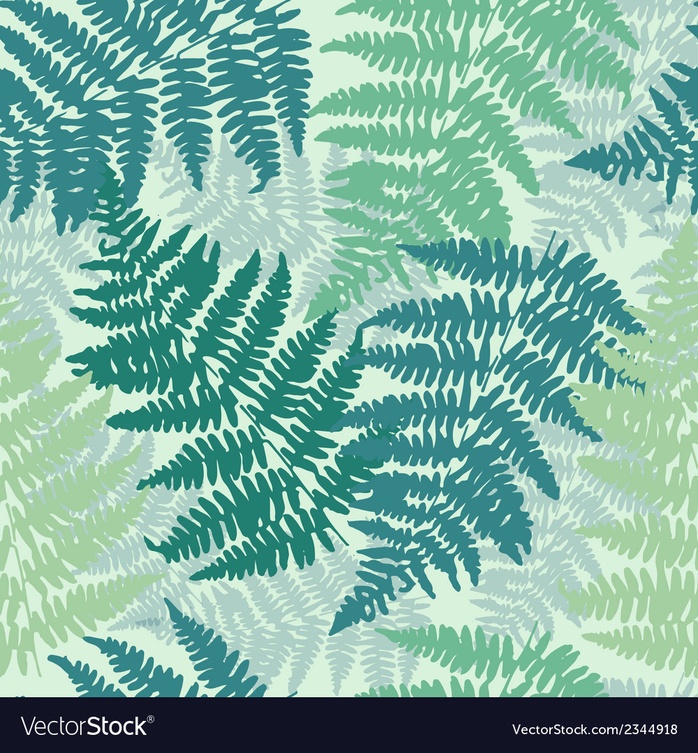 Seamless repeating fern pattern background vector | Price: 1 Credit (USD $1)