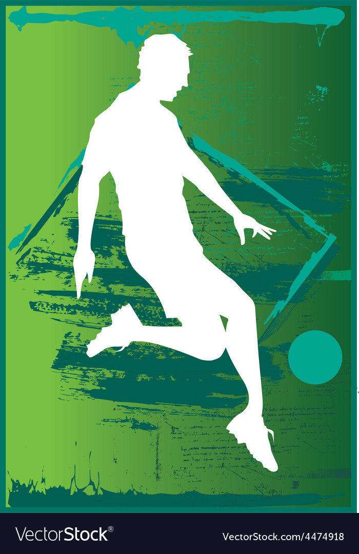 Soccer player kicking ball vector | Price: 1 Credit (USD $1)