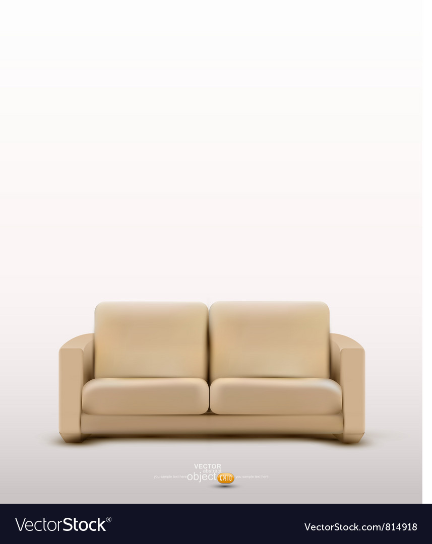 Sofa furniture item vector | Price: 3 Credit (USD $3)
