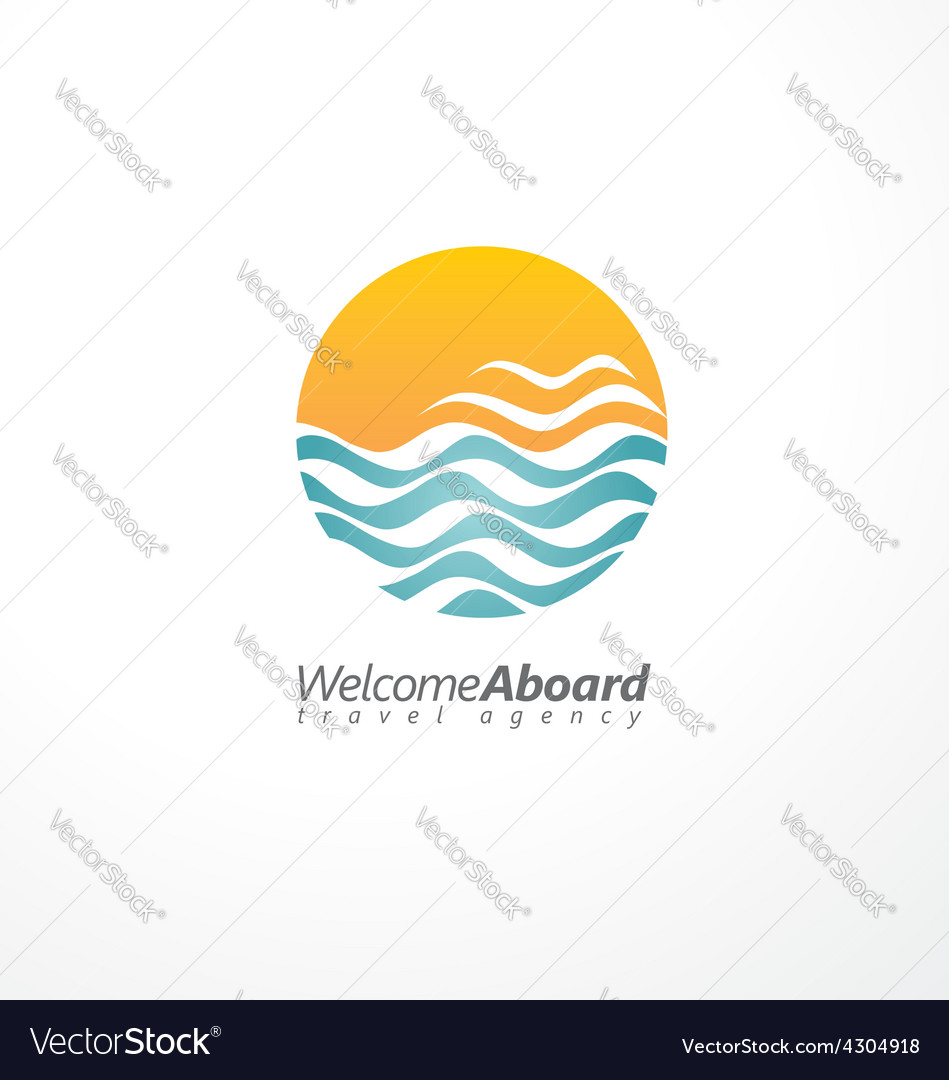 Travel agency creative symbol concept vector | Price: 1 Credit (USD $1)