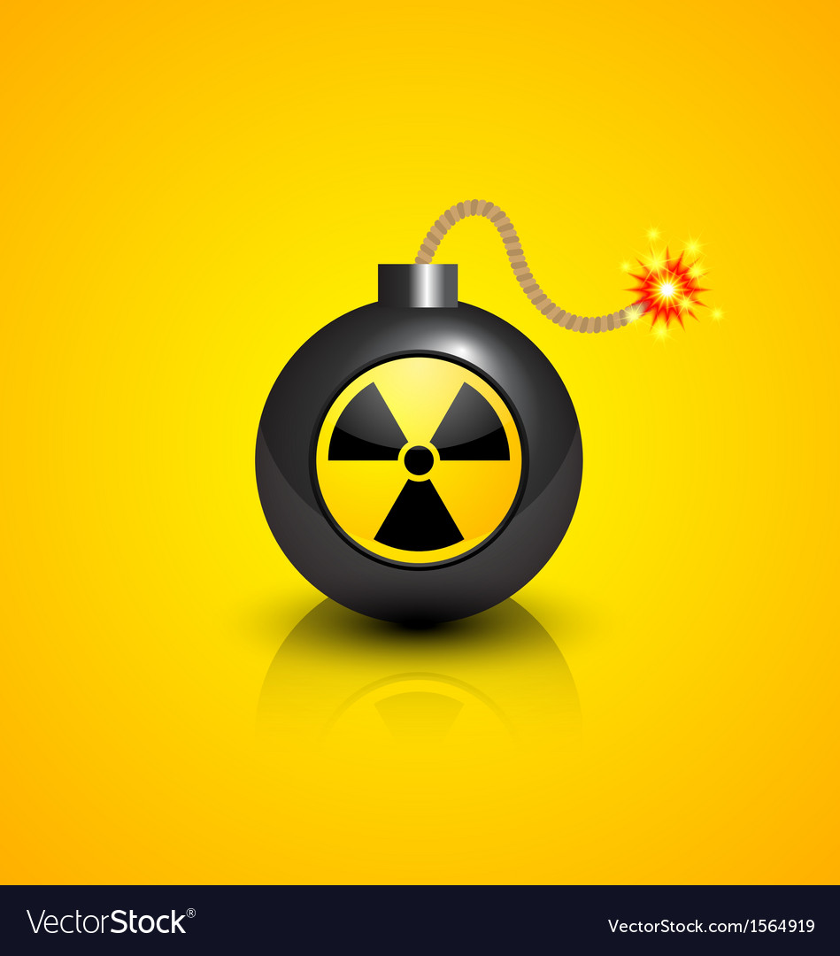Black nuclear bomb vector | Price: 1 Credit (USD $1)