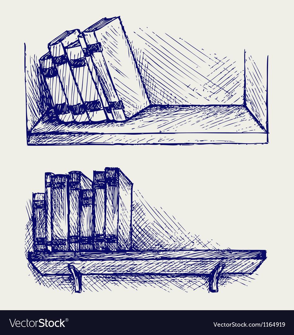 Books on the shelf vector | Price: 1 Credit (USD $1)