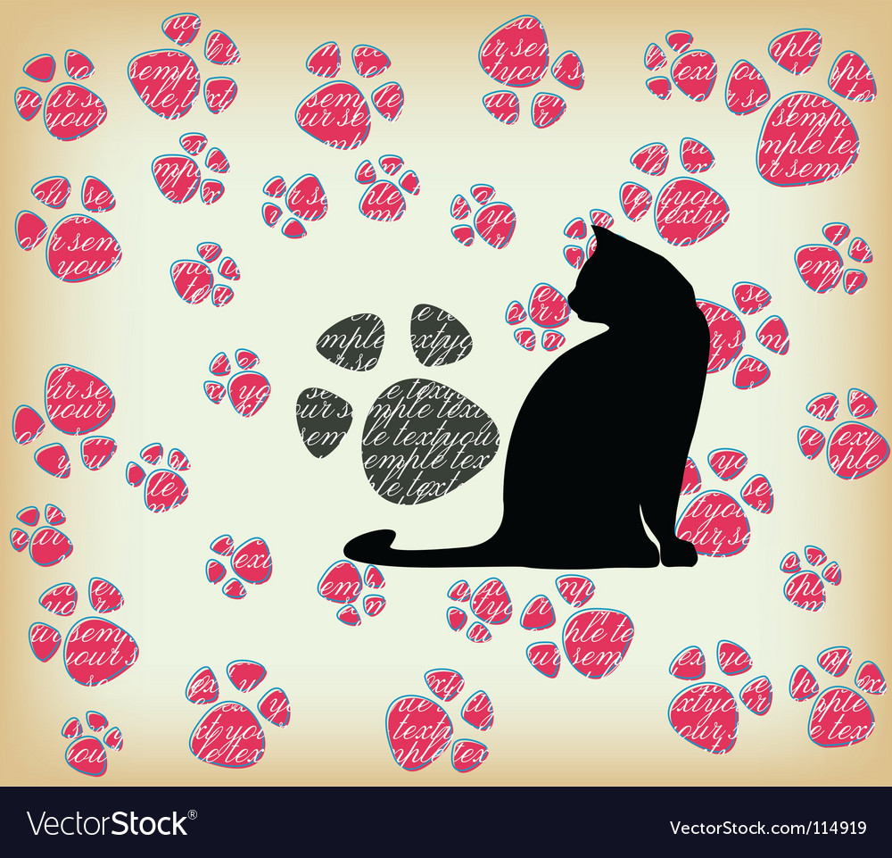 Cat's paw seamless vector | Price: 1 Credit (USD $1)