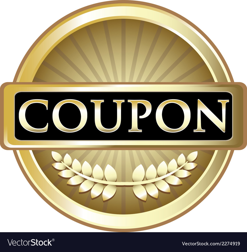 Coupon gold label vector | Price: 1 Credit (USD $1)