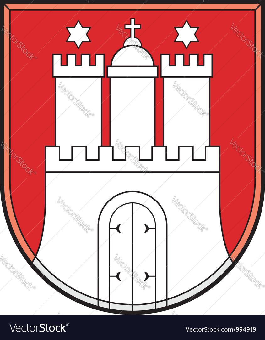 Hamburg coat of arms vector   Price: 1 Credit (USD $1)