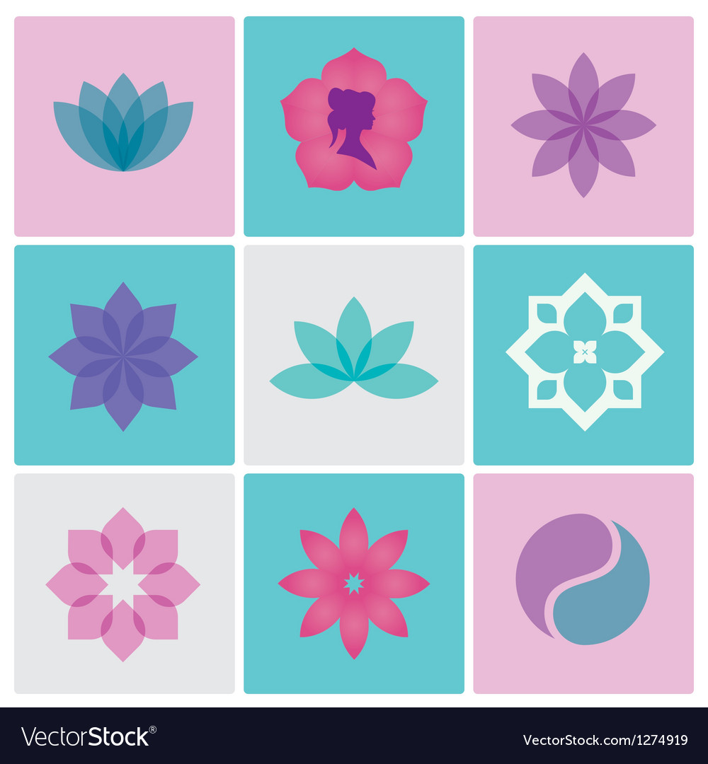 Logo spa flowers vector | Price: 1 Credit (USD $1)